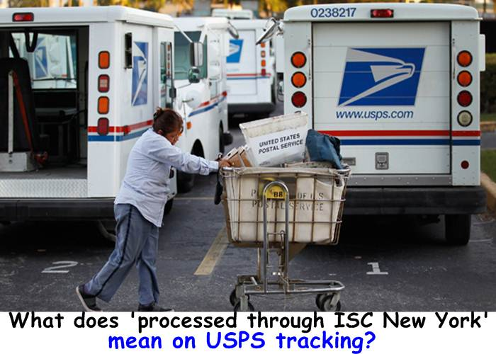 What does 'processed through ISC New York' mean on USPS tracking?